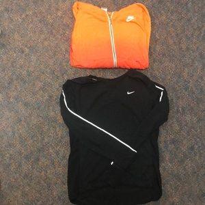 Nike sweatshirt and reflective long sleeve